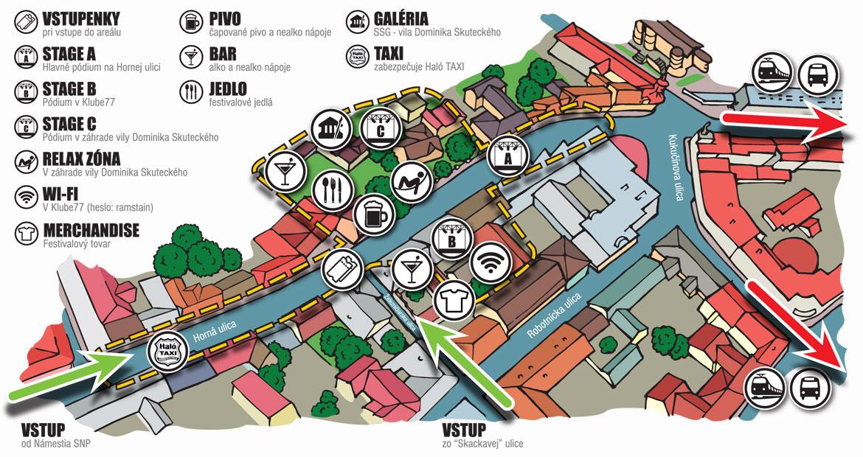 Rockscape 2017, Horná ulica, Banská Bystrica